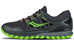 saucony Xodus ISO TX Running Shoes Men Black/Slime/ViZi Orange